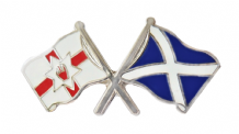 Northern Ireland and Scotland Friendship Flag Badge